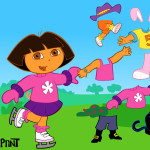Vestir a la Dora con disfraces