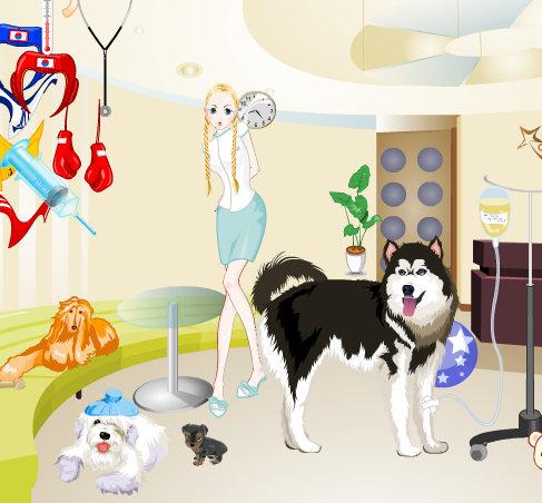 Juego de vestir al perro Husky Siberiano
