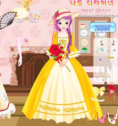 Vestir a la muchacha de los vestidos largos