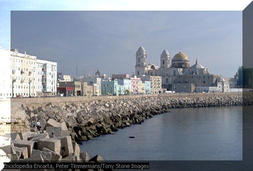 cadiz vista ciudad antigua europea