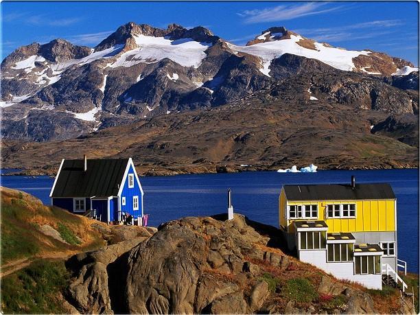 casas groenlandia ammassalik coloridas