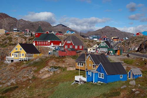 casas groenlandia coloridas color
