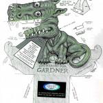 dragon 3d verde oscuro