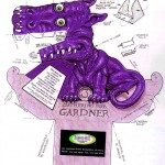 dragon 3d violeta