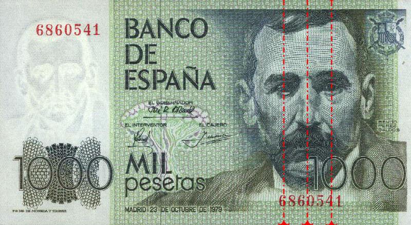 ejemplo billete 1000 pesetas