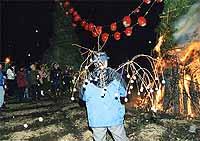 japon navidad ano nuevo dondo yaki fuego