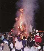 japon navidad ano nuevo dondoyaki fuego