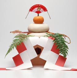 japon navidad ano nuevo kagami-mochi mandarina