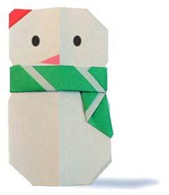 origami-navidad-navideno-christmas-xmas-hombre-nieve-bufanda-scarf