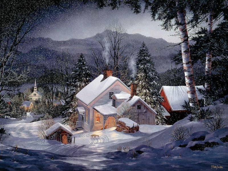 postales navidad navidenas ilustraciones 10