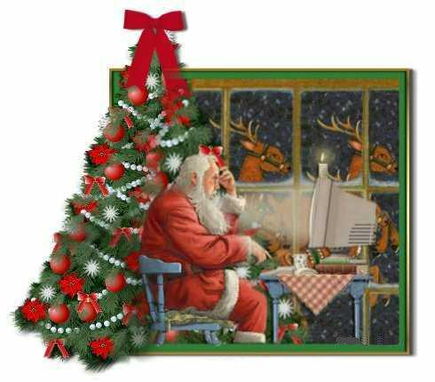 postales navidad santa claus papa noel
