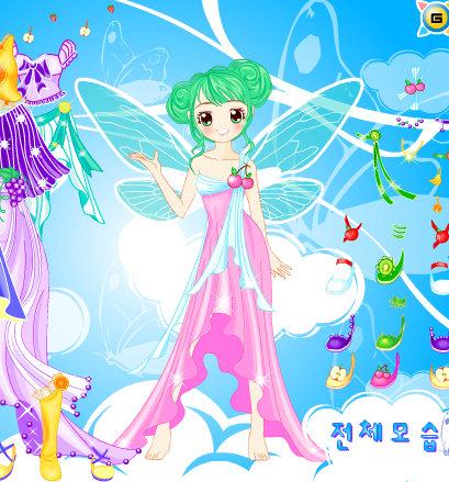 Vestir al hada mariposa de las frutas