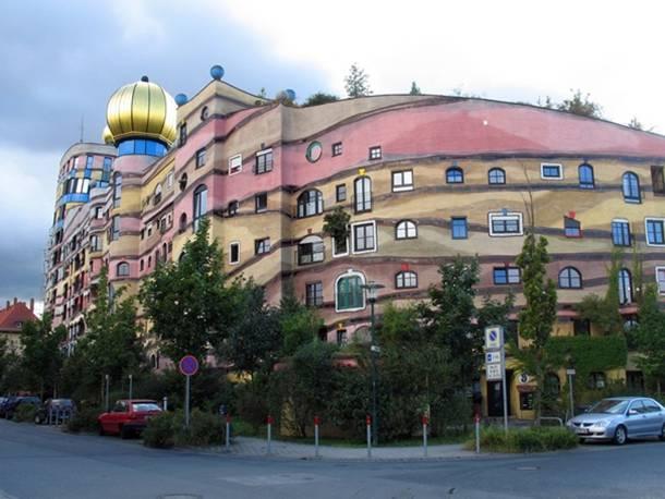 Forest Spiral Hundertwasser Building Darmstadt Germany