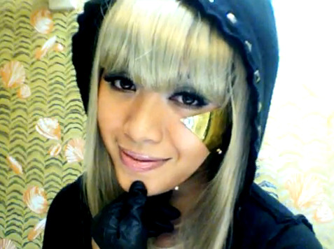 Michelle Phan Lady Gaga Poker Face look