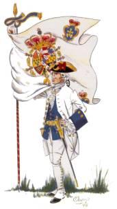 bandera espanola antigua XVIII