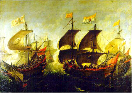 bandera espanola combates XVII