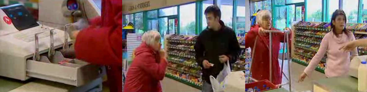 broma caja dinero supermercado robo