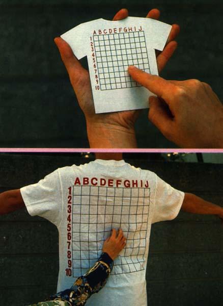 chindogu espaldas rascar camiseta