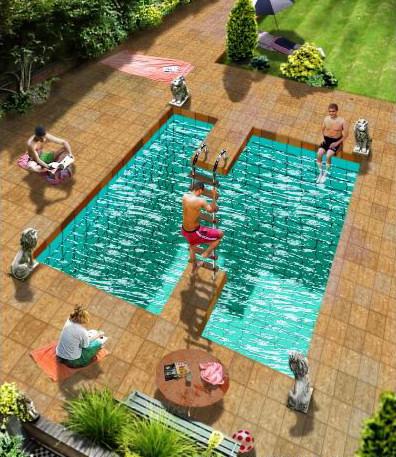 estructuras imposibles ilusiones piscina
