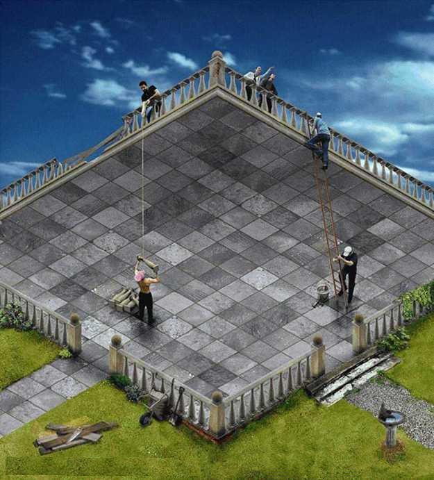 estructuras imposibles ilusiones plaza