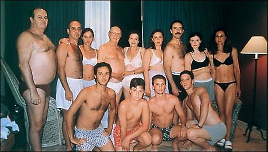 fotos familias raras bano