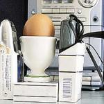 Cómo cocinar un huevo con dos móviles