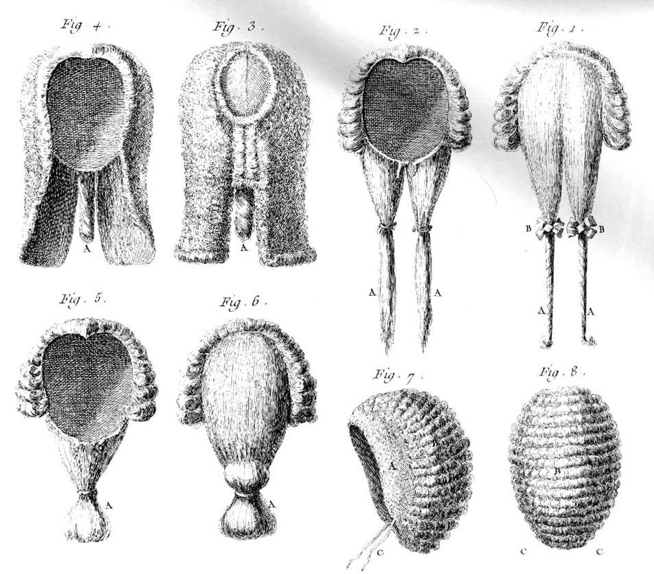 pelucas siglo XVIII francia hombres