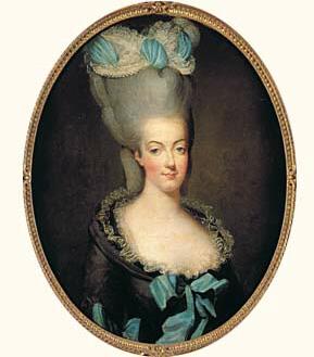 pelucas siglo XVIII francia maria antonieta