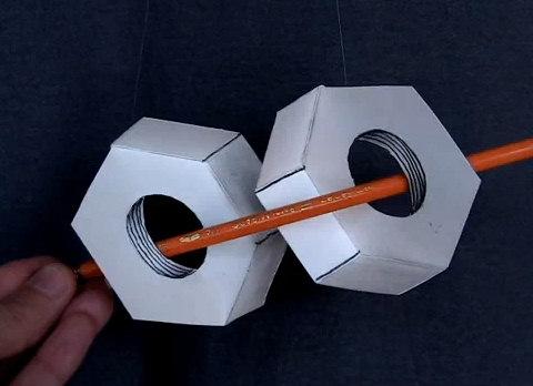 tuercas 3d concavas convexas