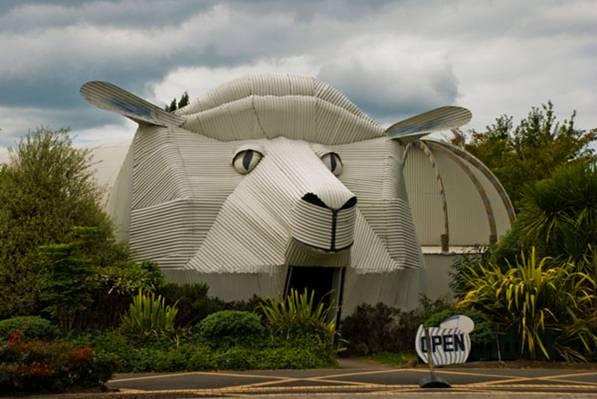 Edificio ovejas Tirau Waikato Nueva Zelanda