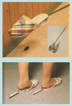 chindogu zapatillas mata cucarachas