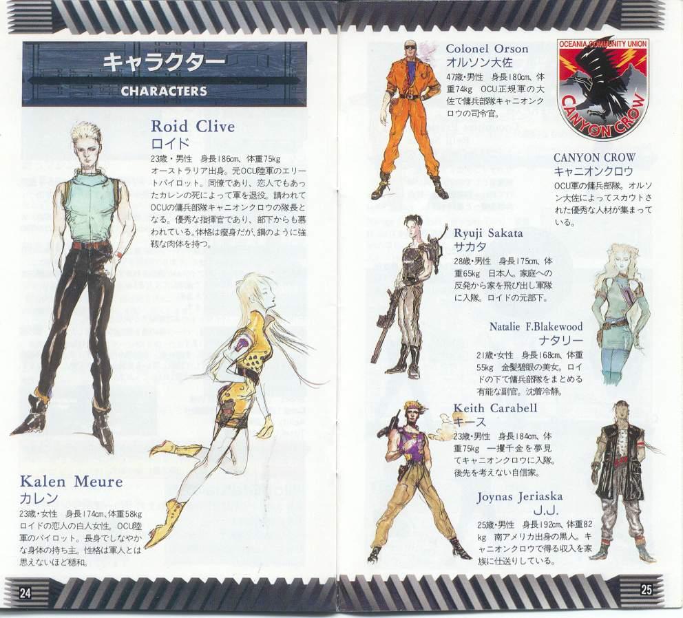 front mission super nintendo famicom personajes