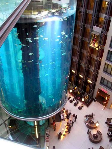 mayor acuario cilindrico del mundo aquadom