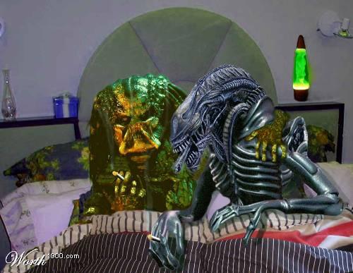 montajes cine alien predator