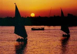 rio nilo sol egipto