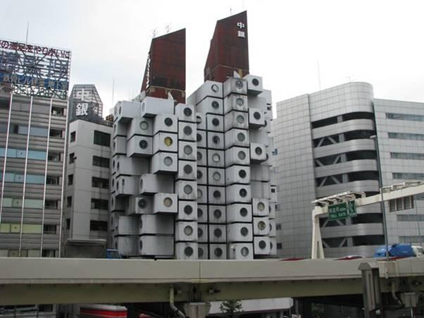 torre capsula nakagin tokyo japon