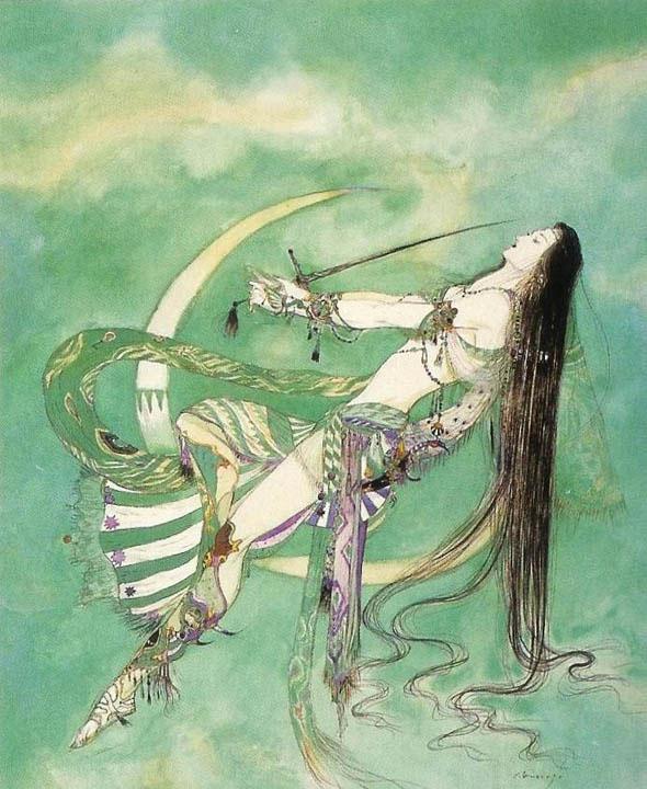 yoshitaka amano ilustracion frenzy and fascination