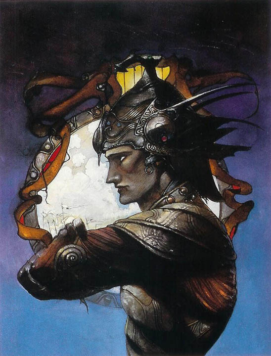 yoshitaka amano ilustracion sword and the stallion