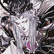 yoshitaka amano pintura Albinone Llama blanca