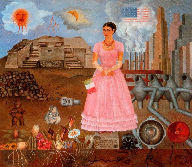 Autorretrato en la frontera de Mexico los Estados Unidos 1932