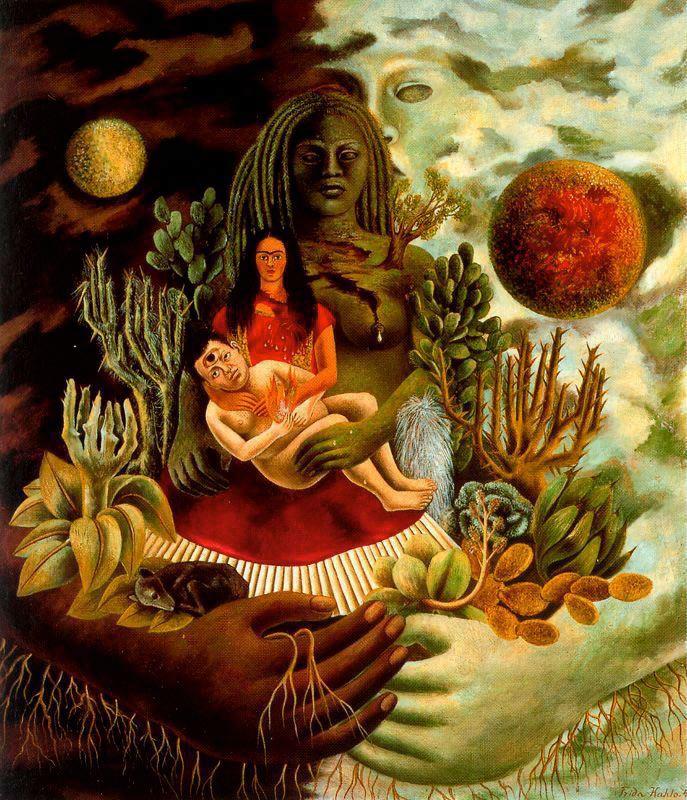 El abrazo amor de El universo la tierra Mexico Yo Diego el senor Xolotl 1949El abrazo amor de El universo la tierra Mexico Yo Diego el senor Xolotl 1949