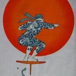 Camisetas con motivos surferos kabukis