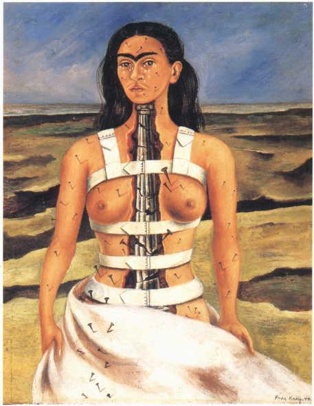 frida-kahlo-columna-rota-1944-arte-dibujo-lienzo