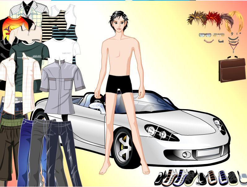 juego vestir chico moderno