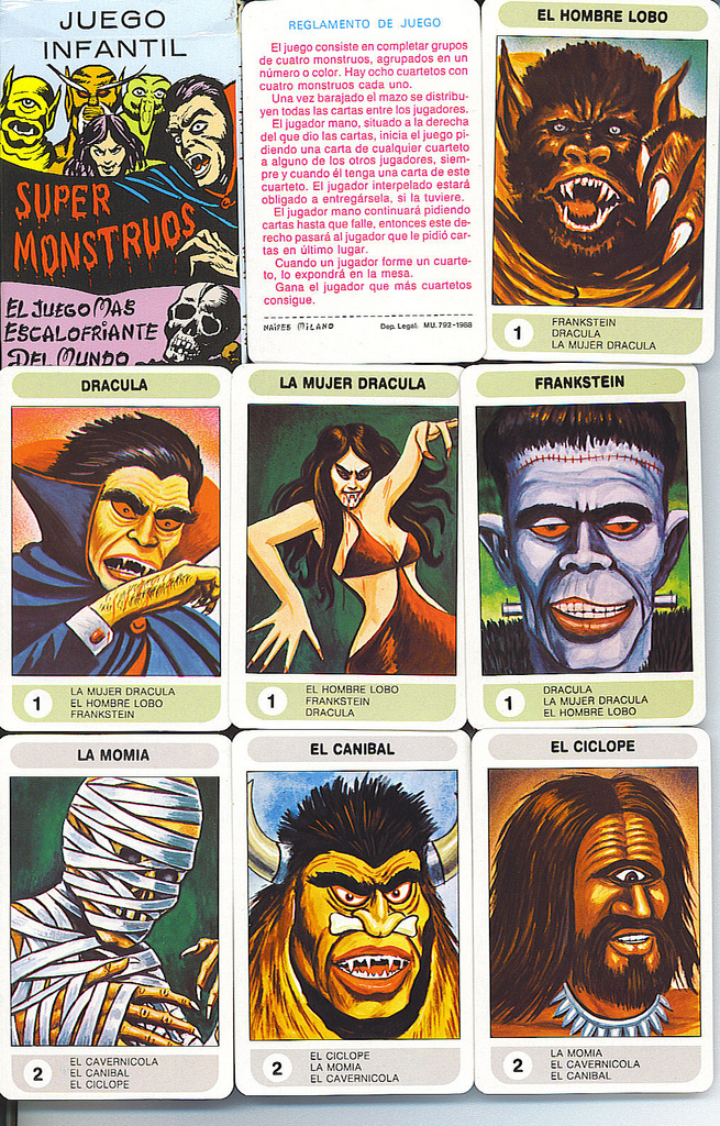 super monstruos cartas