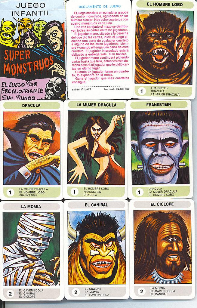 super monstruos cartas