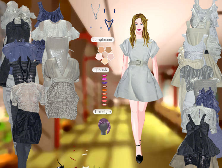 Vestidos y estilismo de pasarela