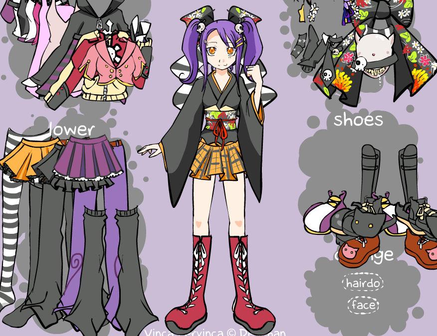 Vestir a la muñeca de anime