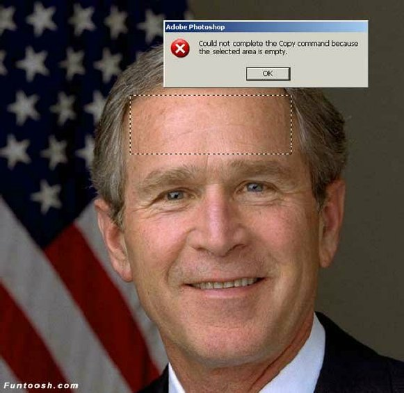 bush error-copiar-ordenador