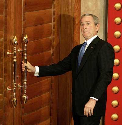 bush puerta equivocacion china
